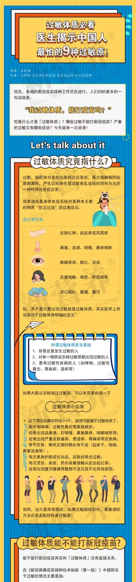 一图读懂   过敏体质必看 医生揭示中国人最怕的9种过敏原!